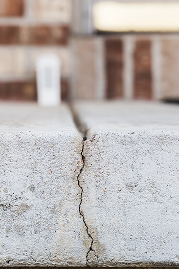 Cracks in a concrete slab