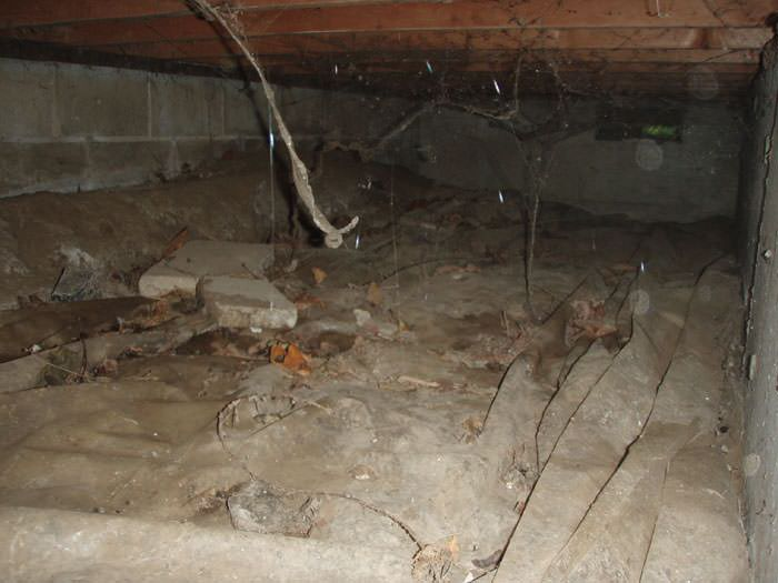 Crawl space cleanup in markham richmond hill vaughan Crawl space flooring