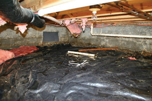Crawl Space Repair Before in Toronto