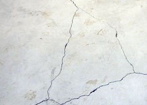 cracks in a slab floor consistent with slab heave in Clarington.