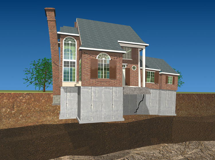 Sinking settling foundation repair greater toronto for Foundation for homes