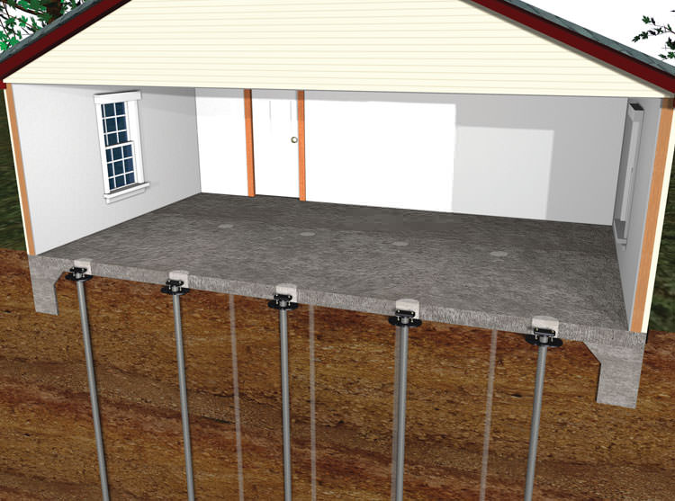 sinking settling foundation repair greater toronto