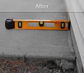Sunken concrete patio repair & leveling