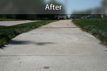 After photo of PolyLevel® concrete sidewalk repair in Toronto
