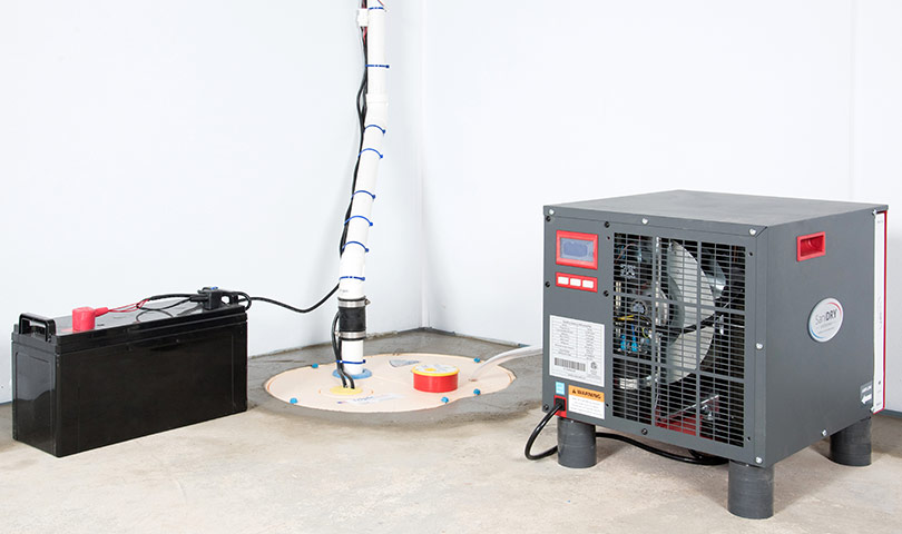 sump pump system installation battery backup sump pumps in ontario