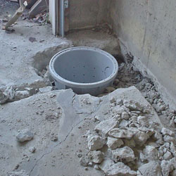 Placing a sump pit in a Whitby home