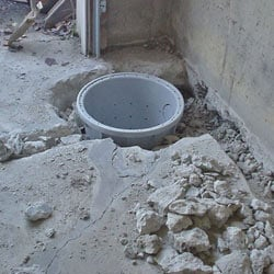 Placing a sump pit in a Aurora home