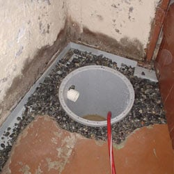 Installing a sump in a sump pump liner in a Mississauga home