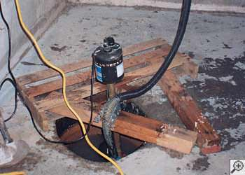 A Ajax sump pump system that failed and lead to a basement flood.