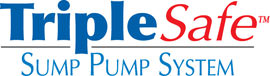 Sump pump system logo for our TripleSafe™, available in areas like Lakefield