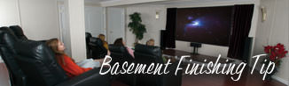 a waterproofed basement that has been finished into a family room in Oshawa