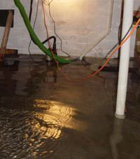 Several feet of floodwaters in a Wasaga Beach basement