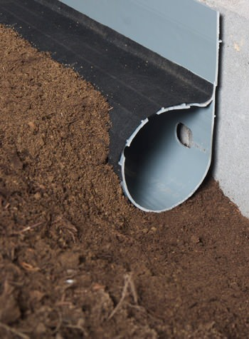 crawl space drain system installed in Lindsay