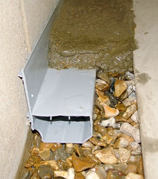A basement drain system installed in a Richmond Hill home