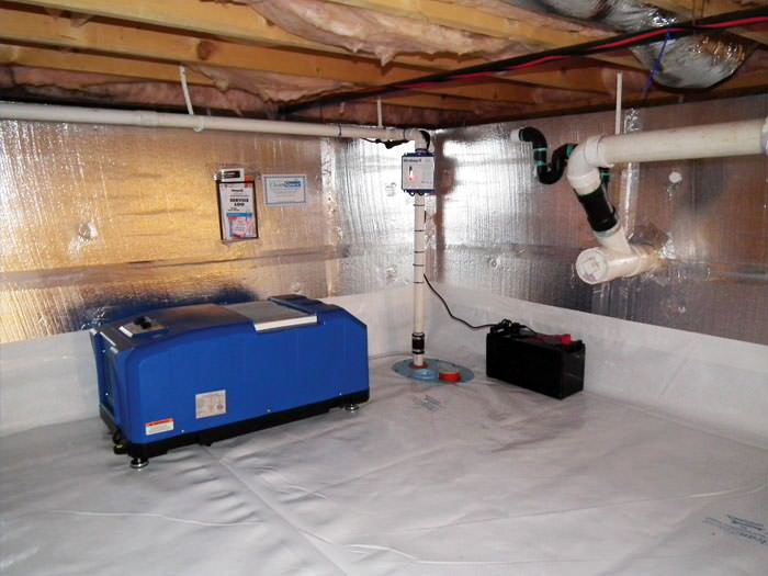 crawl space dehumidification system in toronto markham