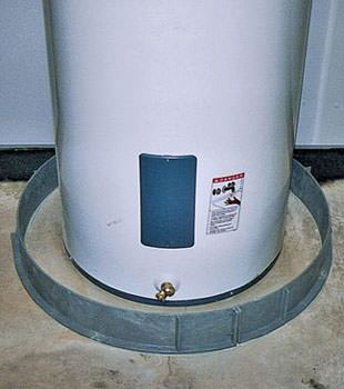 An old water heater in Georgina, ON with flood protection installed