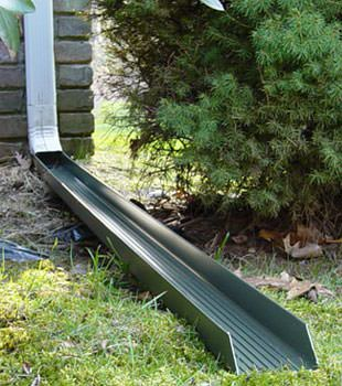 Gutter downspout extension installed in Burnt River